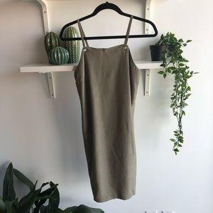 Mexx • Army green slip dress